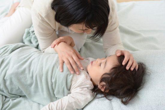 親子で寝る